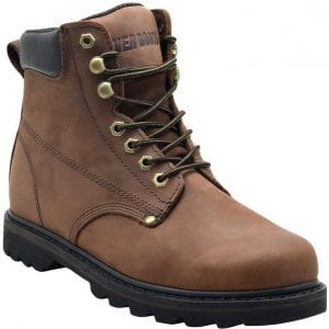 """EVER BOOTS""""Tank"""" Men's Soft Toe Oil Full Grain Leather Work Boots Construction Rubber Sole"""