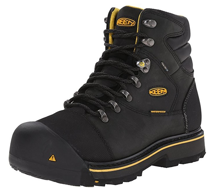 "Best Boots For Pipefitters 3) KEEN Utility Milwaukee 6"" Steel Toe Pipefitters Boots"