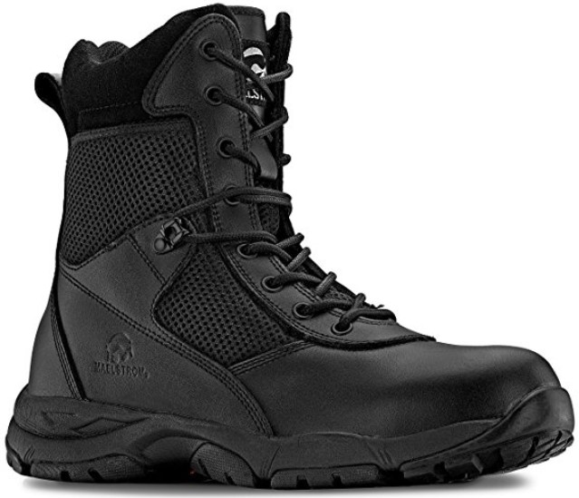 Best Ems Work Boots For Paramedics 5) Maelstrom LANDSHIP 8 Inch Military Tactical Work Boots With Zipper