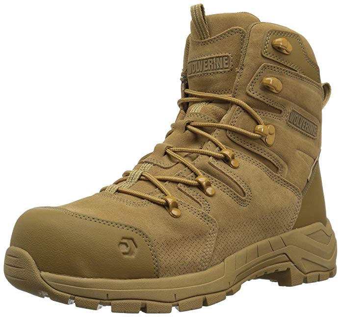 """Best Boots For Asphalt Work 3) Wolverine Contractor LX CarbonMax 8"""" Work Boots"""