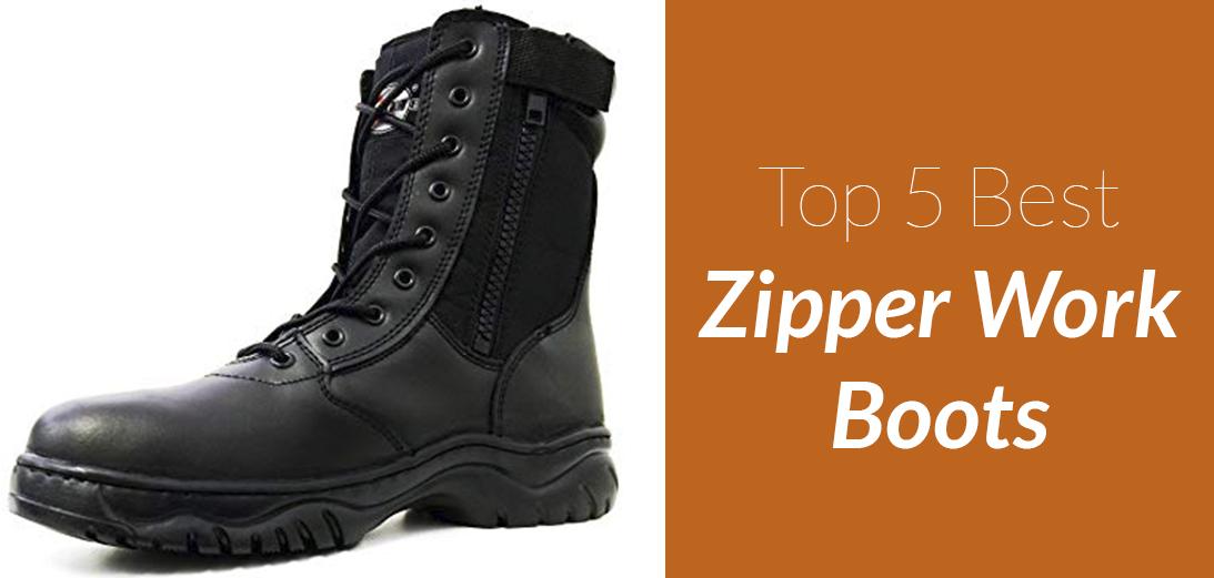 The Best Zipper Work Boots [Updated Guide + 5 Reviews]