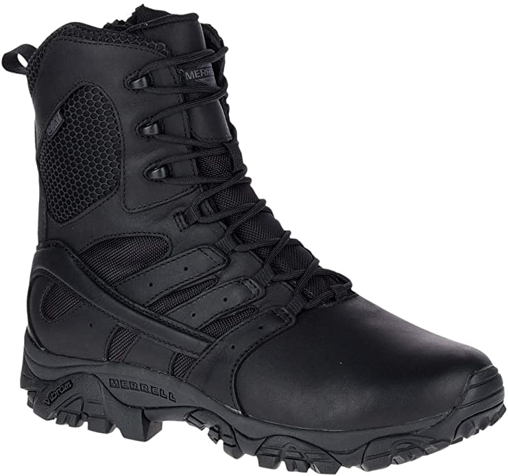 """Best Shoes For Security Guards 3) Merrell Work Moab 2 8"""" Tactical Response Waterproof Boots for Security Guards"""