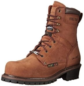 Ad Tec 9 Inch Super Logger Boots for Men, Insulated 100% Waterproof Steel-Toe Safety Work Boots