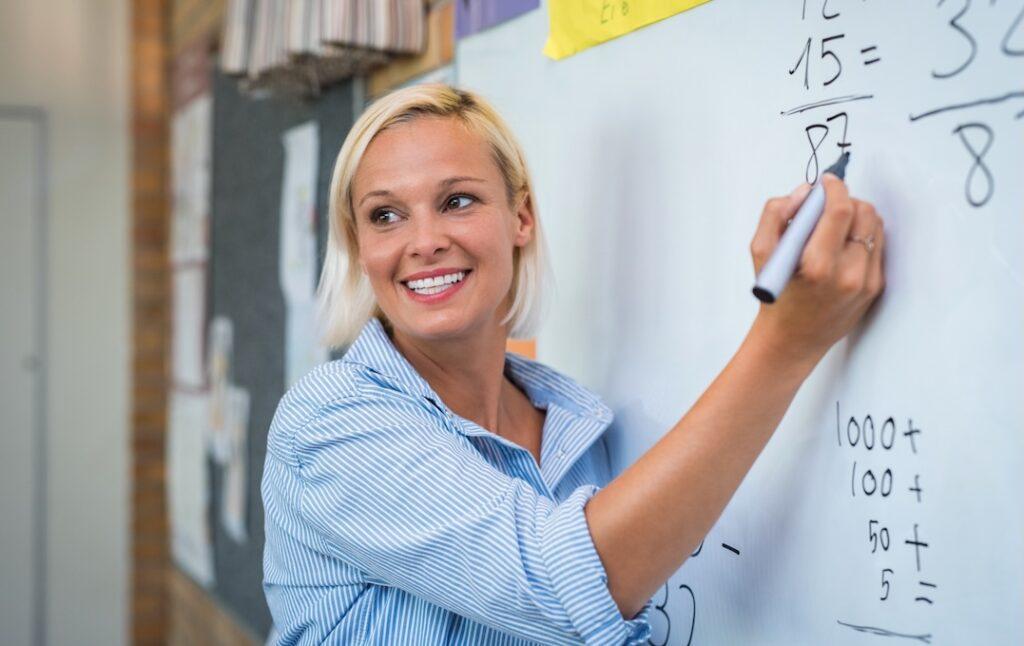female teacher maths